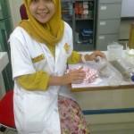 Photos when I do practice veterinary physiology at the laboratory of faculty Veterinary of syiah kuala